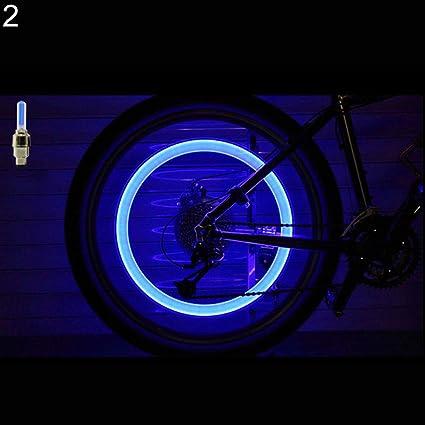 2 x LED Lamp Flash Tyre Wheel Valve Cap Light For Car Bike Bicycle Motorcycle^/&