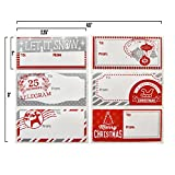 Gift Boutique Christmas Gift Tags Stickers 110 Count in Elegant Red & Silver Designs