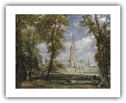 The Ibis Print Gallery - John Constable : ''Salisbury Cathedral from The Bishop's Grounds'' (c.1825) - Giclee Fine Art Print