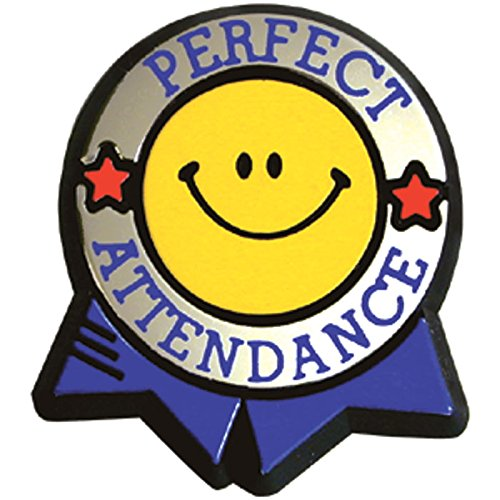 - Perfect Attendance Colorful Economy Pin (Set of 100)