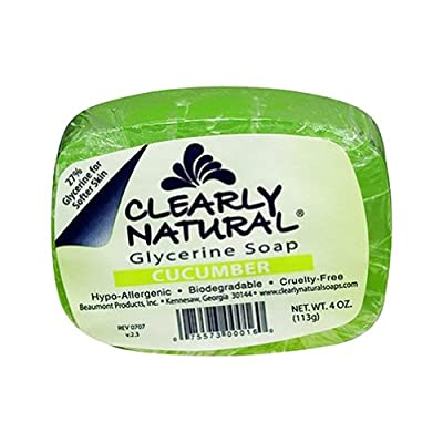 Clearly Natural Glycerin Bar Soap, Cucumber, 4 Ounce