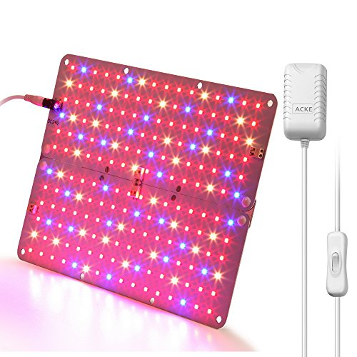 ACKE LED Panel Grow Light, Plant Light PCBA, Hydroponic Grow Light ,LED Grow Light Aluminum Board for Greenhouse,Grow Light Stand, Vegetative Growth of seedling, flowers, (Fluorescent Christmas Lights)