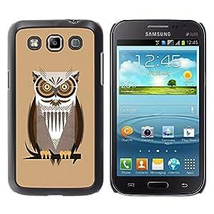 Qstar Arte & diseño plástico duro Fundas Cover Cubre Hard Case Cover para Samsung Galaxy Win / I8550 / I8552 / Grand Quattro ( Owl Brown Big Eyes Branch Tree Bird Forest)