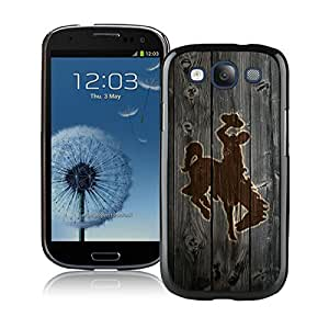 NCAA Mountain West Conference MWC Football Wyoming Cowboys Black Samsung Galaxy S3 Cellphone Case Lovely and Grace Look