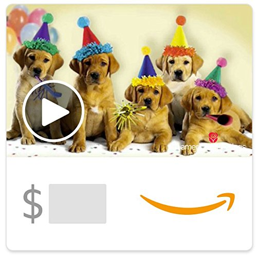 (Amazon eGift Card - Happy Birthday Dogs (Animated) [American Greetings])
