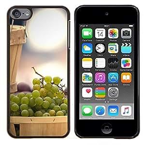 KLONGSHOP // Cubierta de piel con cierre a presión Shell trasero duro de goma Protección Caso - Naturaleza Hermosa Forrest Verde 121 - Apple iPod Touch 6 6th Touch6 //