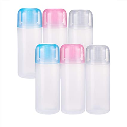 BENECREAT 6 Pack 50ml Botella de Plástico Suave Botella de Viaje para Loción y Crema Conveniente