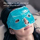 Eye Mask with Gel Beads, PLUS Eye Pads, Great for