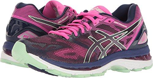 ASICS Women's Gel-Nimbus 19 Running Shoe, Indigo Blue/Paradise Green/Pink Glow, 8.5 M US