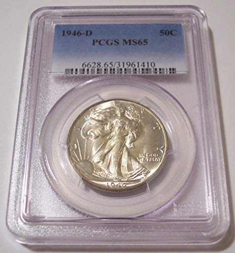 1946 D Walking Liberty Half Dollar MS65 PCGS