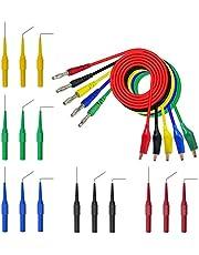 20pcs Multimeter Test Lead Set with 30V Back Probe and 4mm Banana Plug to Alligator Clip for Electrical Testing 500V/5A