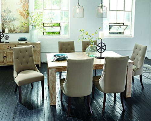 Amazon.com: Signature Design By Ashley D540 225 Mestler Collection Dining  Room Table, Bisque: Kitchen U0026 Dining