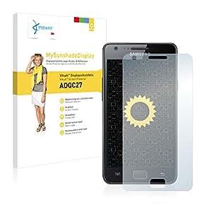 Vikuiti ADQC27 MySunshadeDisplay - Protector de pantalla para Samsung Galaxy S2 I9100 (no deja residuos, instalacin sencilla), color transparente