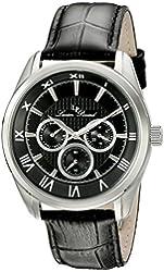 Lucien Piccard Men's 10153-01 Odessy Analog Display Quartz Black Watch
