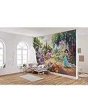 Komar Disney fototapet | Princess Park | Storlek: 368 x 254 cm (bredd x höjd) | Flickor, prinsessa, tapet, barn, vägg, barnrum, dekoration | 8–4109