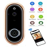 Video Doorbell,KOBWA Wireless Video Doorbell 1080 P HD WiFi Security Camera, Real-Time Two-Way