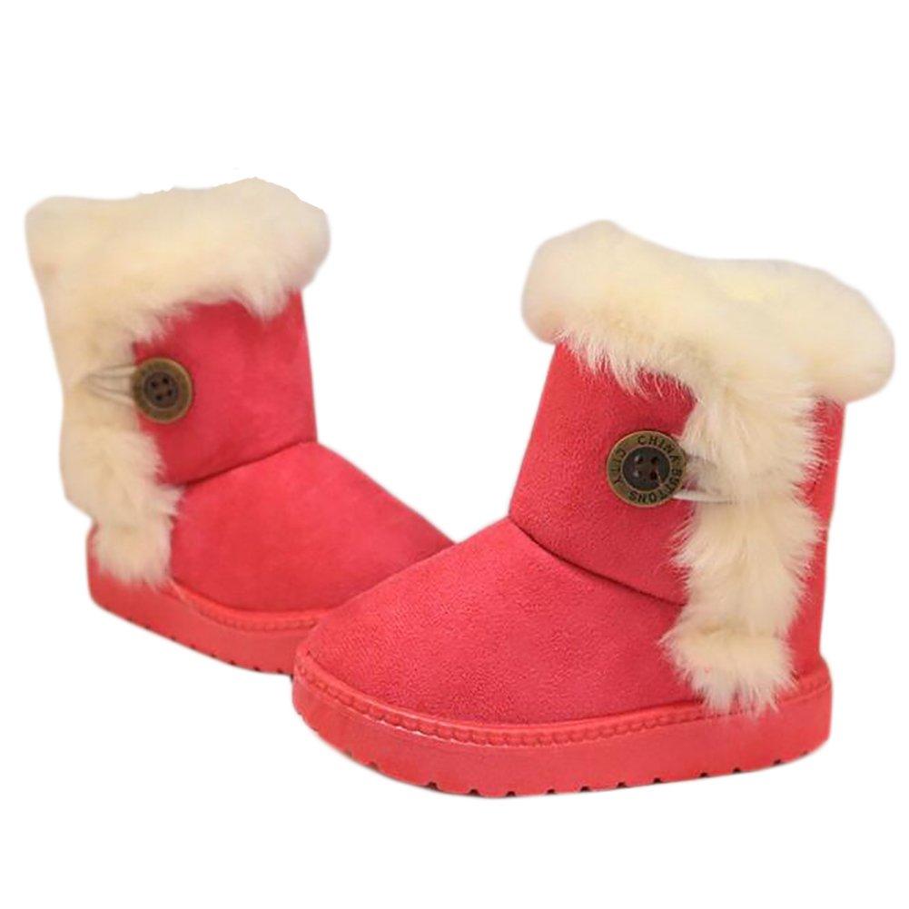 BININBOX Girls Warm Cotton Snow Boots Thicken Non-Slip Winter Boots Kids