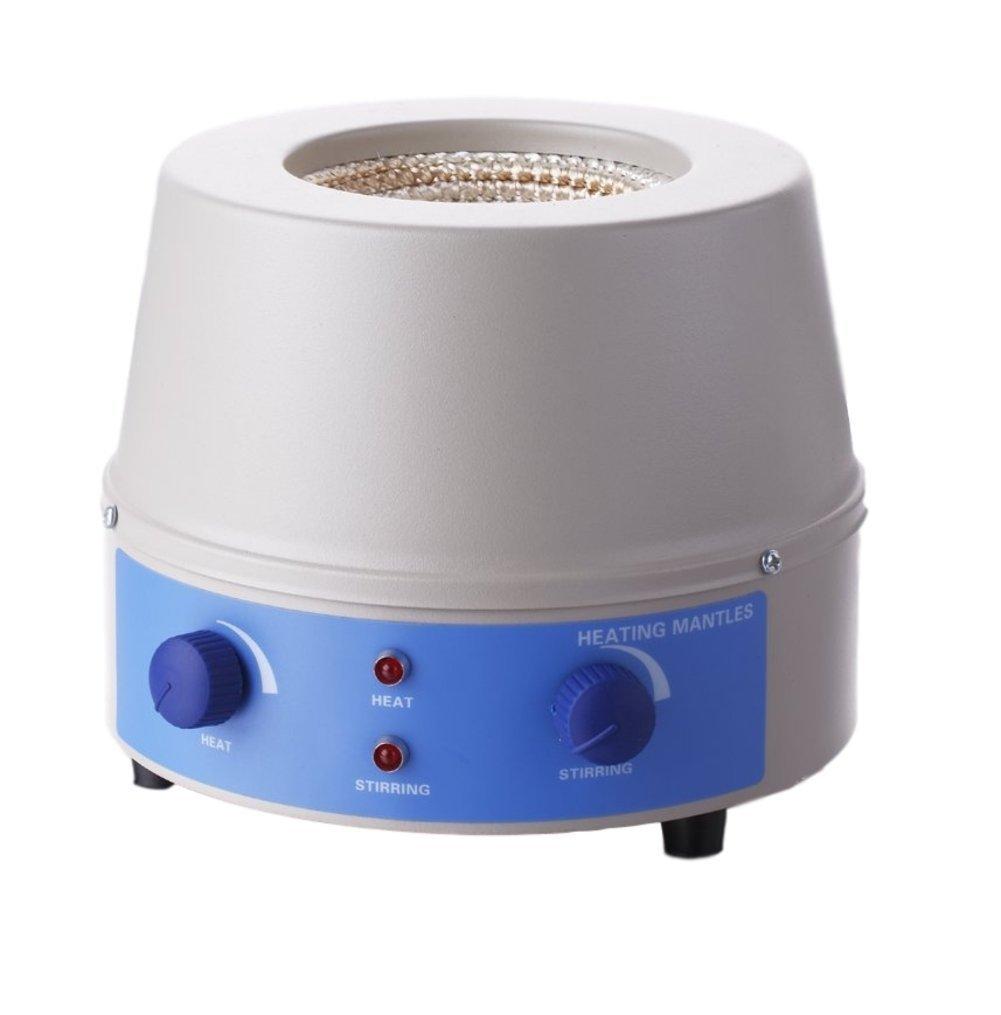 BIPEE Analog Magnetic Stirrer Heating Mantle 1000ml, 0~1400rpm, 350W, Max 450℃(842℉), One Year Warranty