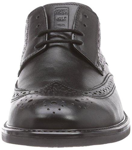 Negro Fretz Zapatos Noir Robbie Hombre Men Derby 51 T7qawX7B