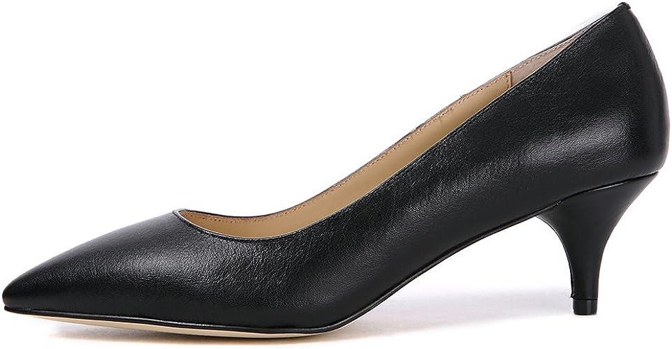 Womens Mid Heel Pumps Ladies Pointed