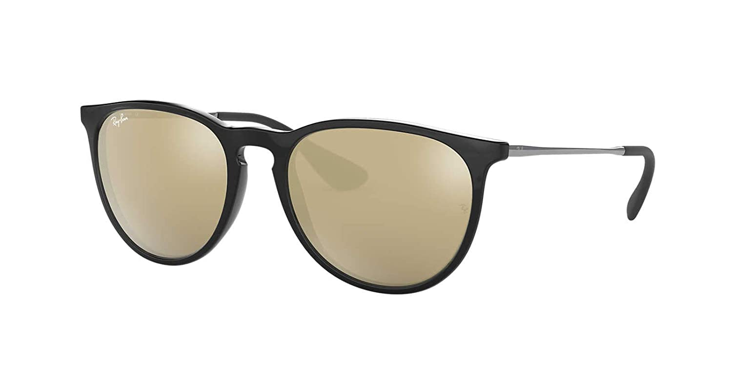 27b6327f0222 Amazon.com: Ray-Ban Womens Erika Sunglasses (RB4171) Black/Brown  Plastic,Nylon - Non-Polarized - 54mm: Clothing