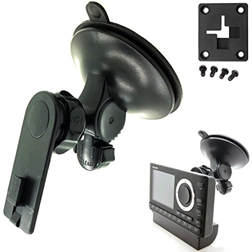 AccessoryBasics XT Sticky-Dash Windshield Suction Mount for Sirius XM Onyx Plus Starmate Stratus Roady Helix Lynx Satellite Radio w/ Single T Delphi Skiff & 4 hole AMPS Pattern (SiriusXM) C 4 Hole Amps