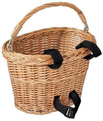 Avenir Wicker Bicycle Basket with Black Velcro (8 - inch x 10 - inch x 7.5 - inch), Model: 73-73-104, Spoorting Goods Shop by Sports World Shop