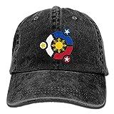 LETI LISW Flag PhilippinesWashedDenim Cap Adult Unisex Adjustable Hat