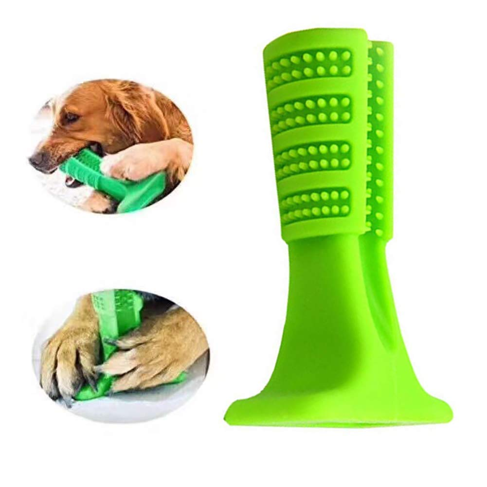 1pc Toothbrush for Dogs Hygiene Toy Bristly Brushing Stick Pet Molars Toothbrush(Green) Cotowin