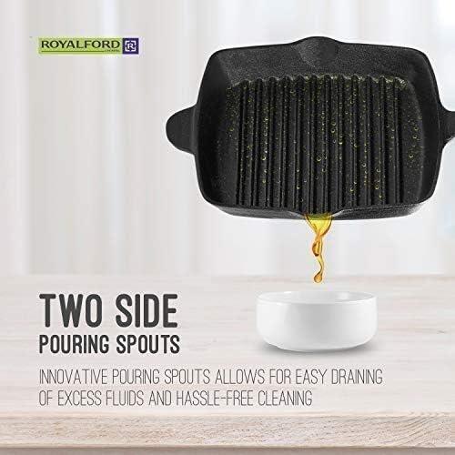 Yanzz Plaque de cuisson durable et facile à nettoyer, en fonte antiadhésive