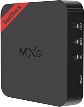 Leelbox - MXQ Android TV Box Amlogic S805 Quad Core Android 4.4, 1 GB RAM, 8 GB de memoria flash, KODI 16.1 preinstalado Smart TV Box, en color negro: Amazon.es: Electrónica