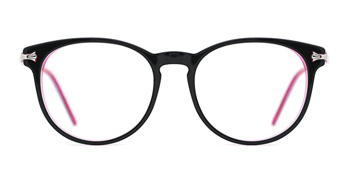 62dc46c707 Image Unavailable. Image not available for. Color  TIJN Women Round Frame  Eyewear Keyhole Bridge