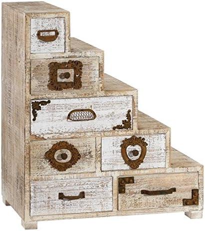 Tousmesmeubles – Mueble Escalera 7 cajones – Livy – L 69 x l 32 x H 79 – Neuf: Amazon.es: Hogar