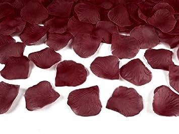 Sideso 500 Rosenblatter Bordeaux Rot Hochzeit Streublumen