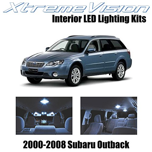 XtremeVision Subaru Outback 2000-2008 (10 Pieces) Cool White Premium Interior LED Kit Package + Installation Tool
