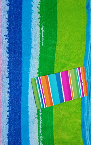 Kirkland Signature 100% Egyptian Cotton Beach Towel (Horizontal Multi Stripe)