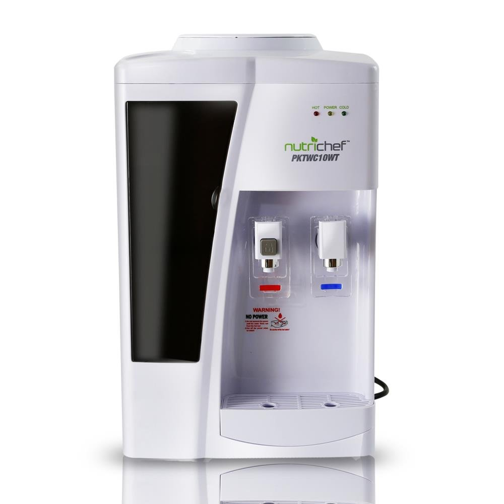 Nutrichef Countertop Water Cooler Dispenser - Hot & Cold Water, with Child Safety Lock. (White) by NutriChef (Image #8)