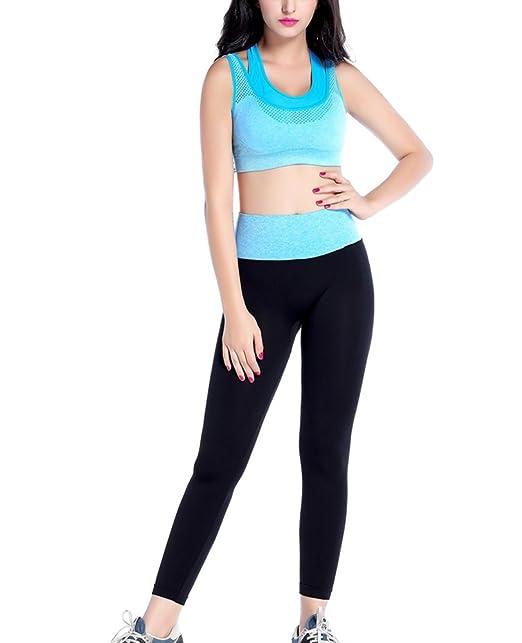 Conjunto de Sujetador Deportivo para Mujer Conjunto de Trajes de Yoga 76aed763a594