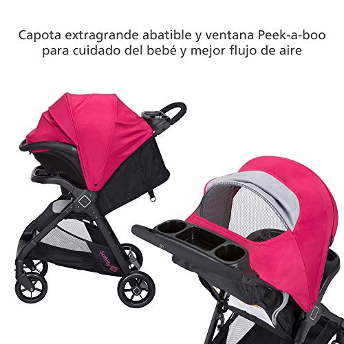 51YrmlbA91L - Safety 1st Smooth Ride Travel System With OnBoard 35 LT Infant Car Seat, Sangria