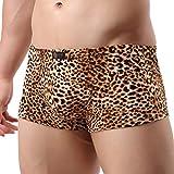 K-Men Men's Boxer Briefs Low Rise Sexy Leopard