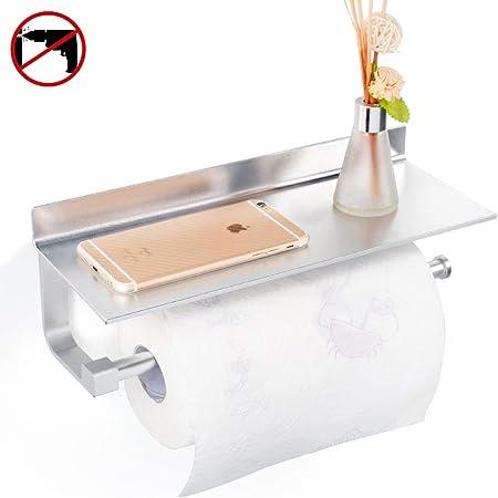 Hoomtaook Supports pour Papier Essuie-Tout Distributeurs 33cm Finition Mat Porte-Papier de Cuisine Noir Aluminium