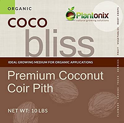 Coco Bliss Premium Coconut Coir Pith 10 lbs brick/block, OMRI listed for Organic Use