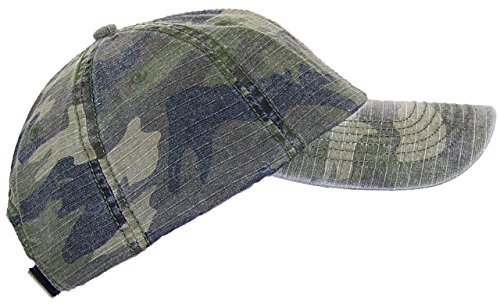 MG Unisex Unstructured Ripstop Camouflage Adjustable Ballcap (One Size) - Camo