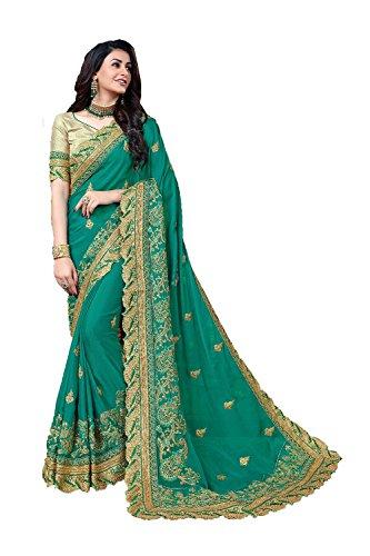 Da Facioun Indian Sarees For Women Wedding Designer Party Wear Traditional Sari. Da Facioun Saris Indiens Pour Les Femmes Portent Partie Concepteur De Mariage Sari Traditionnel. Blue 8 Bleu 8