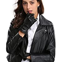 Women's Luxury Touchscreen Nappa Genuine Leather Winter Warm Texting Driving Gloves