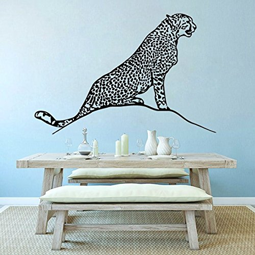Wall Decal Cheetah Leopard Gepard Wild Animal Sticker Vinyl Decals Bedroom Nursery Home Jungle African Ethnic Decor Art Mural SM131 by DecalsArtStore
