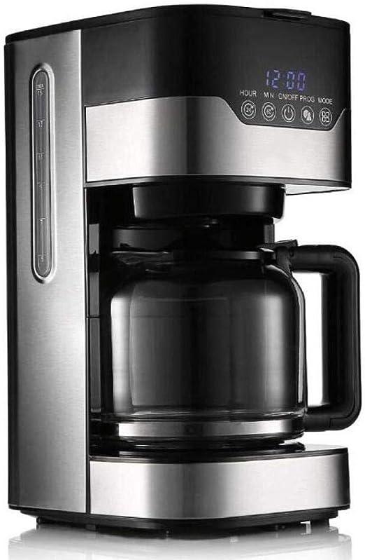 ZHQHYQHHX Cafetera Cafetera Tetera automática Máquina de té con Olla de Vidrio 1.5L Reloj de Gran Capacidad Cafetera antigoteo: Amazon.es: Hogar
