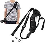 LNKOO Camera Strap, Rapid Fire Shoulder Neck Strap Sling Belt Quick Release Safety Tether & 2pcs Screw Mount for DSLR SLR Camera