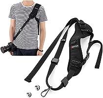 LNKOO Camera Strap, Rapid Fire Shoulder Neck Strap Sling Belt Quick Release Safety Tether & 2pcs Screw Mount for DSLR SLR Camera