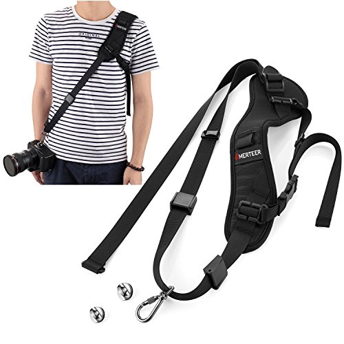 Rapid Fire Shoulder Strap With Quick Release Safety Tether for DSLR Cameras